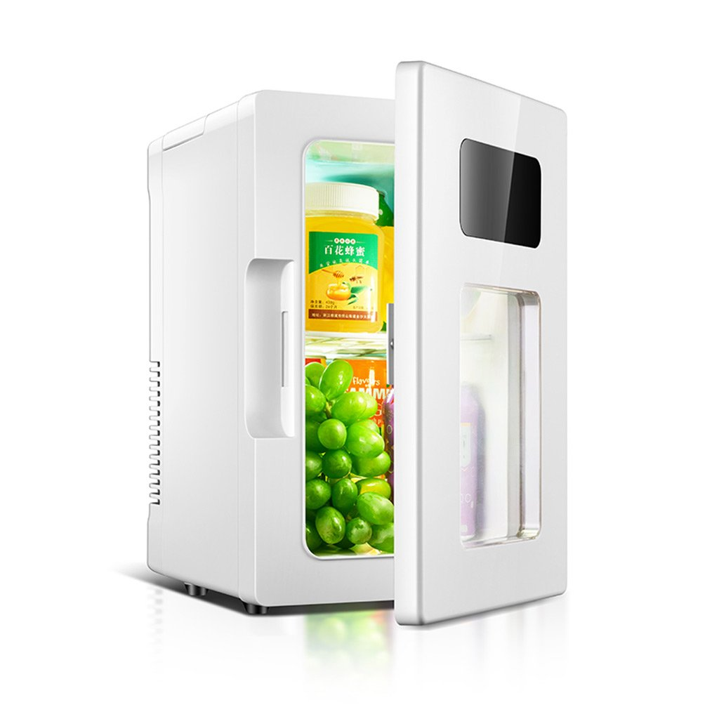 JGWJJ Portable 10L Mini Fridge 12V Car Refrigerator Mini Freezer Dual-use Car/Home Hot/Cold Family Small Refrigerator/with Temperature Display(2 Type)