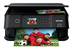 """The ultra powerful, ultra slim Expression Premium XP-6000 wireless Small-in-One printer delivers superior photo quality and fast print speeds. Print 4"""" x 6"""" photos in as fast as 15 seconds (1). With affordable, individual 5-color Claria Premi..."""