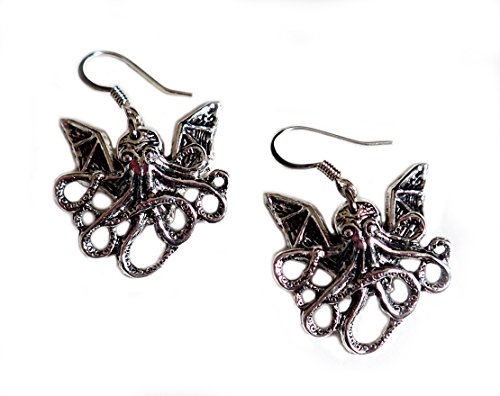 [Small Baby Cthulhu Earrings] (Gothic Maiden Costumes)