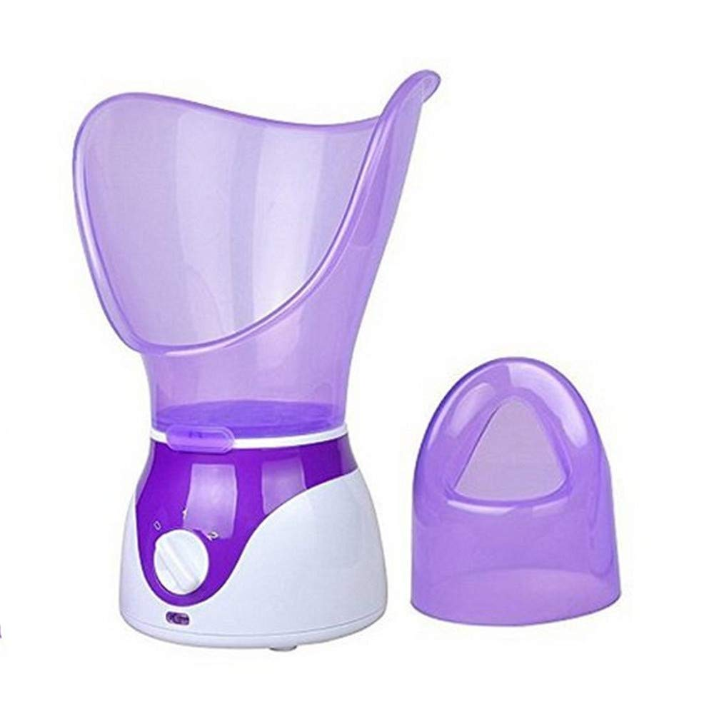 Facial Steamer Hot Mist Face Steamer Home Sauna Face Humidifier for Face Steaming Skincare Deep Cleanse Moisturizing Sinus with Aromatherapy; Diffuser Skin Care(Purple)