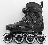 Inline Skates For Men Unisex Racing PP Material 90A High elasticity Wheels Black , 41