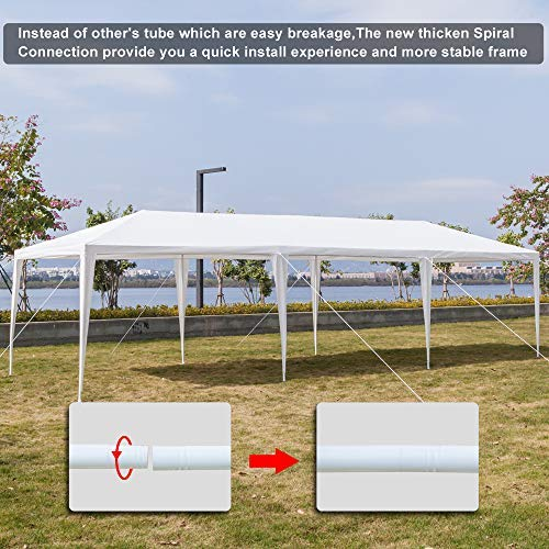 Teekland 10'x30' Outdoor Canopy Party Wedding Tent,Sunshade Shelter,Outdoor Gazebo Pavilion with 8 Removable Sidewalls Upgraded Thicken Steel Tube (10' x 30' / 8 Removable Sidewalls-1) by Teekland (Image #9)