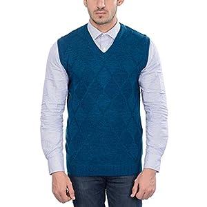aarbee Men's Wool V-Neck Sweater