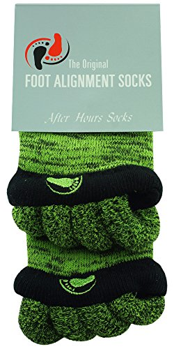 Original Foot Alignment Socks Medium Womens 7-9/ Mens 5-8 Green/Black Happy Feet (Happy Feet Socks)