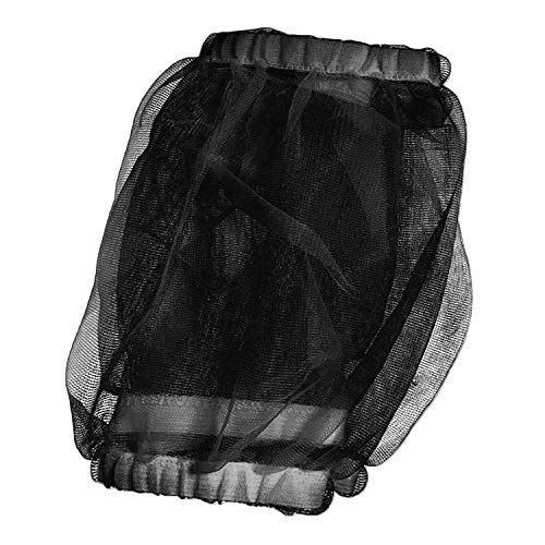 (HMH PET Bird Cage Seed Catcher Guard Parrot Nylon Mesh Net Cover Stretchy Shell Soft Airy Skirt Traps Basket Cage (M, Black))