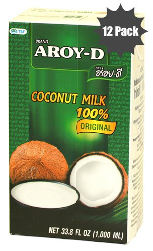 100% Coconut Milk - 33 Oz Packages (12-pack) by Aroy-D (Image #1)