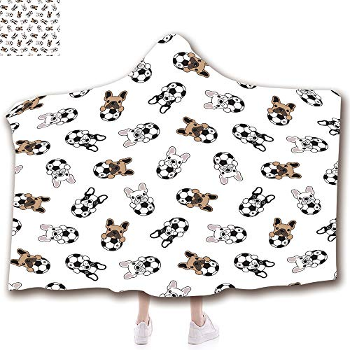 Unisex Wearable Hooded Blanket Unique Plush Throw Blankets Soft suit for Kids(43