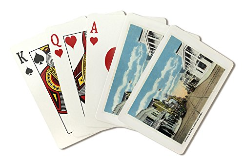 Key West, Florida - Duval Street West Scene (Playing Card Deck - 52 Card Poker Size with Jokers)