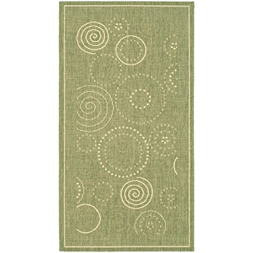 Cheap Safavieh Courtyard Collection CY1906-1E06 Olive and Natural Indoor/ Outdoor Area Rug (2′ x 3'7″)