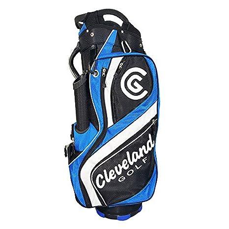 Cleveland C0089617 Bolsa de Carro de Golf, Hombre, Negro/Azul/Blanco, Talla Única