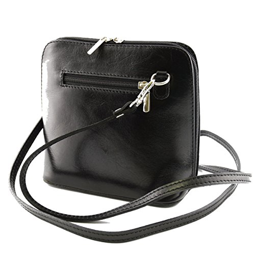 Borsa Donna A Tracolla In Pelle Colore Nero - Pelletteria Toscana Made In Italy - Borsa Donna