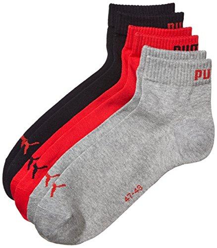Calza grey Invisible Sneaker 3p black Uomo Multicolore Puma red EUqPYxP