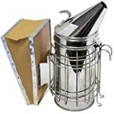 "Bee Hive Smoker 11"" Stainless Steel with Updated Design and Heat Protection. Also Provides Scent Cover for Deer Hunting."