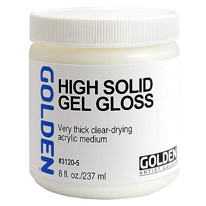 amazon com acrylic medium golden high solid gel gloss 8oz