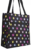 Multicolor Pawprint Travel Tote Bag with Coin Purse, Bags Central