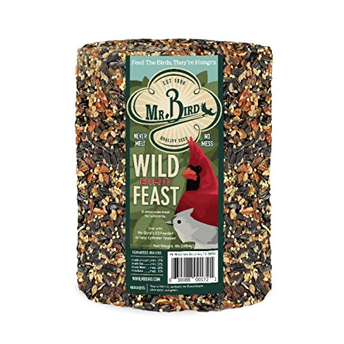 Mr. Bird Wild Bird Feast Birdseed Large Cylinder 4 lbs. by Mr. Bird