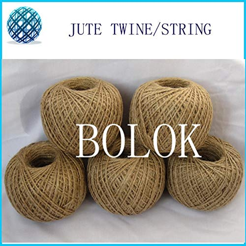 FINCOS 6pcs/lot Total 600mDIY Natural Jute Twine (1.5-2mm)110yards/ball (2 ply Twisted) raw Jute String, DIY Jute Cords