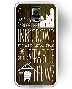 UKASE Hard Back Cover Skin Cases with Cool Painting of Are You Part of the Inn Crowd or Are You Owe of the Stable Few for Samsung Galaxy S5