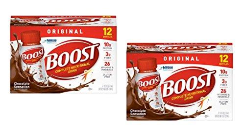 Boost Original Complete Nutritional Drink, Chocolate Sensation, 8 fl oz Bottle (Original Chocolate (Pack of 24))