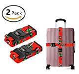 SWEET TANG Long Cross Luggage Straps Suitcase Belts CANDY CANE
