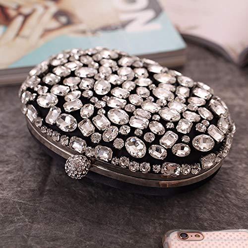 Black Bolsos con Tachuelas Bolsos De para Bolsos Vestidos Bolsos con Silver Bolsos SHMILY para Pequeos Damas Diamantes Cuadrados Bolsas Cena qYwHCIC
