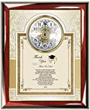 Thank you Gift to Parents or Friend from College University Graduate Personalized Poem Wall Clock Frame for Law School Graduates Medical Dental