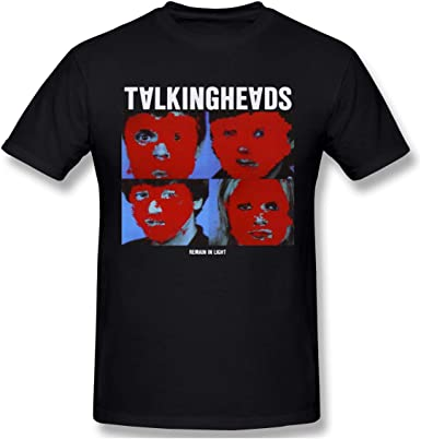 Younnerr Men's Shirts Classic Talking Heads Remain in Light Round Neck Short Sleeve T-Shirts