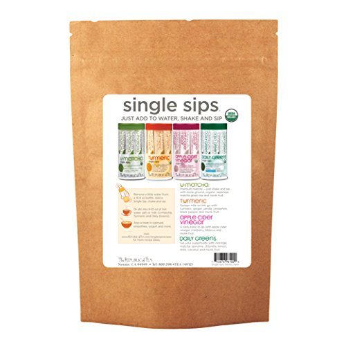Apple Vinegar Cider Tea Green (The Republic Of Tea Single Sips Sampler Envelope, 4 Single Sips)