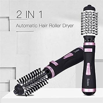 2 en 1 secador de pelo profesional rizador rizador de pelo rizador de planchas rollo estilismo herramientas secador de pelo cepillo giratorio peine de aire ...