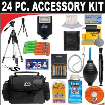 (24 PC ULTIMATE SUPER SAVINGS DELUXE DB ROTH ACCESSORY KIT For The Olympus C-4000, C-4040, C-3040, C-3030, C-3020, C-2020, C-2040, C-720, C-700, C-300, E-100 RS Digital Cameras + BONUS Gift = Waterproof Camera = Great For Kids)