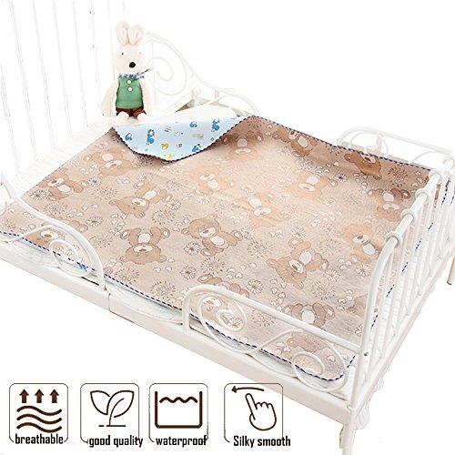 Toddler Mattress Protector Rattan Cooling Summer Sleeping Pads Diaper Changing Waterproof (Coffee, 80120cm) by Leo Skye