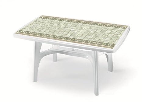 Piano Per Tavolo Plastica.Tavolo Rettangolare Per Esterno Tavolo Resina 150x90 Tavolo Per