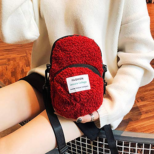 Stationery Hat (Coohole-Stationery & Accessories Women Personality Hat Bag Simple and Lovely Hairy Student Bag Handbag)