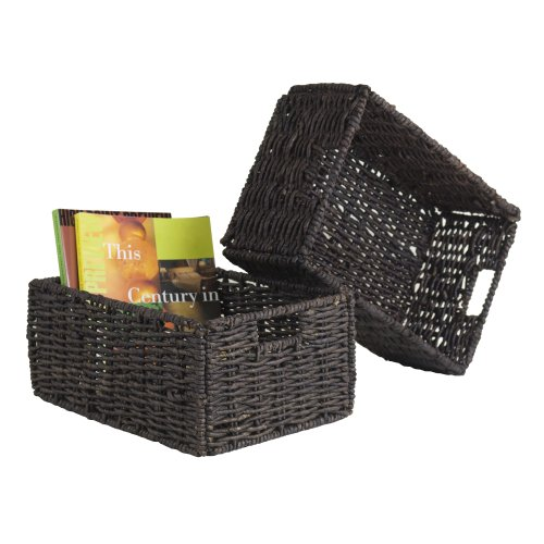 (Winsome Wood Granville Storage/Organization, Medium Basket, Chocolate)
