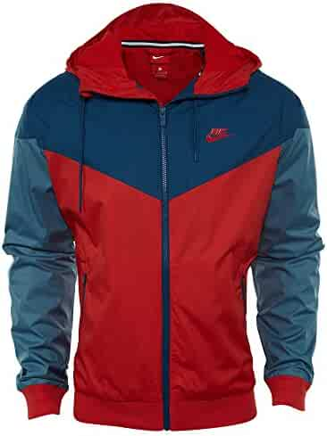 7404d4b315e Nike Mens Windrunner Hooded Track Jacket University Red/Blue Force  727324-658 Size 2X