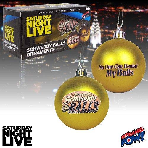 Live Ornament (Saturday Night Live Schweddy Balls Ornaments - Set of 2)