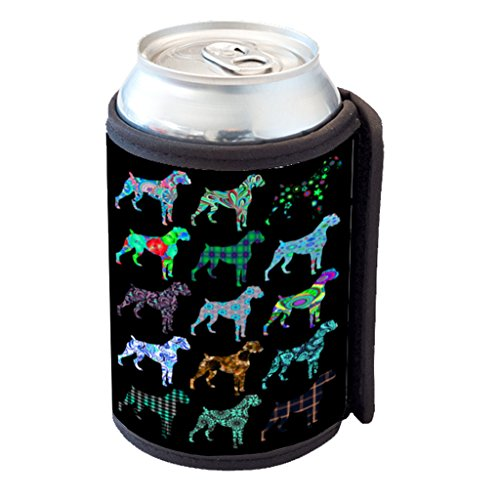 Boxer Dog Pattern - Can Cooler Bottle Hugger (Soda Boxers compare prices)