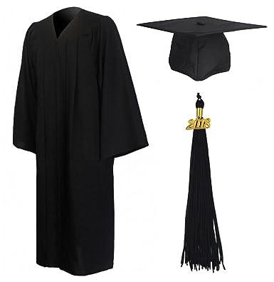 GraduationMall Matte Graduation Gown Cap Tassel Set 2018 for High ...