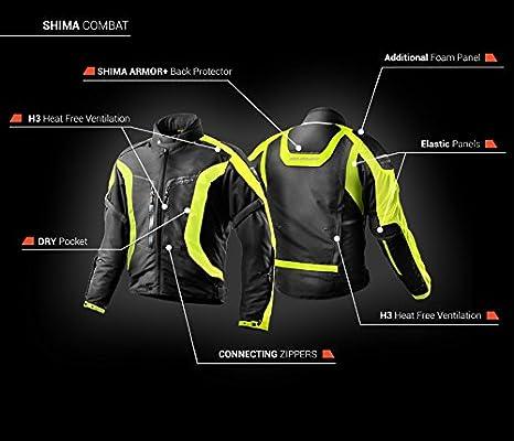 Shima Chaquetas para moto con la espadlda protegida con malla para el verano COMBAT FLUO 3XL