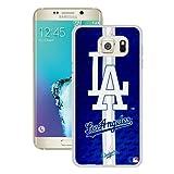 S6 Edge+ Case,Los Angeles Dodgers White Samsung Galaxy S6 Edge Plus Screen Phone Case Unique and Grace Design