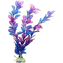 SODIAL(R) Purple Blue Artificial Water Plants for Fish Tank Aquarium Decoration Ornament
