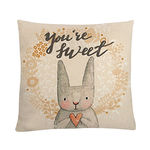 MAYUAN520 Cushion、Decorative Pillows Decorative Cushion Cover For Bedroom Living Room Sweet Animals Rabbit Pillows Cases For Sofa Chair Bed Car Seats Home Decoration by MAYUAN520