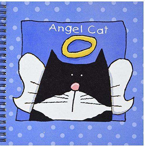 3dRose db_36666_1 Angel Tuxedo Cat Cute Cartoon Pet Loss Memorial Drawing Book, 8 by 8-Inch ()