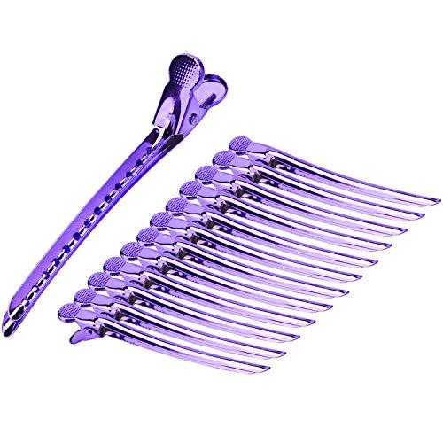 metal alligator hair clips - 5