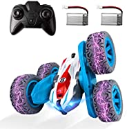 ADDSMILE Remote Control Car for Boys Girls, RC Stunt Car 4WD 2.4Ghz Double Sided 360° Rotating RC Cars High Sp
