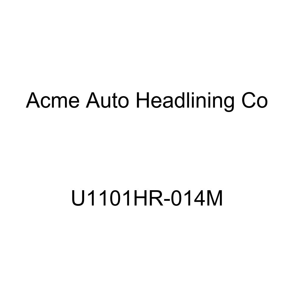 Acme U1101HR-014M Front Saddle Vinyl Bench Seat Upholstery with Sandstone Velour Inserts and Headrest Cover