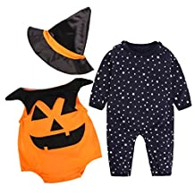 KateWolf Baby Halloween costumes for baby pumpkins Romper Set Clothes