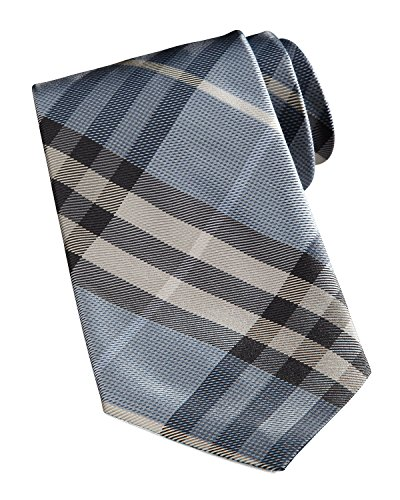 Burberry+London+Manston+Check+Silk+Tie%2C+Dusty+Opal+Blue