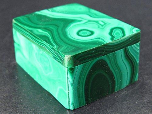 Beautiful Malachite Box From Congo - 1.7
