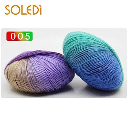(Dalab Micro Elasticity Anti-Shrink 50g Knitting Wool Hat Fine Wool DIY Yarn Gift - (Color: 05))